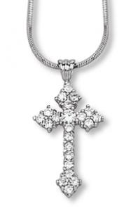 Gothic Design Clear CZ Cross