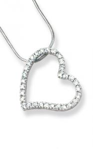 Open heart with clear CZ
