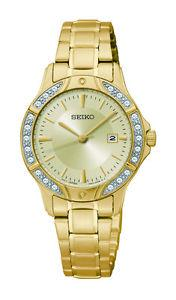 Gold Tone Swarovski Elements Gold Tone Dial Quartz Ladies Watch