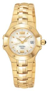 Seiko Coutura Ladies Quartz  - Cabochon crown ,Mother of pearl dial Sapphire crystal 100 meter water resistant