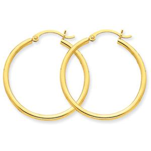 10 Karat Tubular Earrings   -                                                                                  Simple and entirely delicate, this 10 karat yellow gold hoop earring arrangement is simply the buzz these days. Enjoy this classic look that will stay hot for years to come.