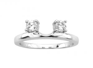 3 8 Ctw Diamond Solitaire Ring Wrap In 14k White Gold Diamond